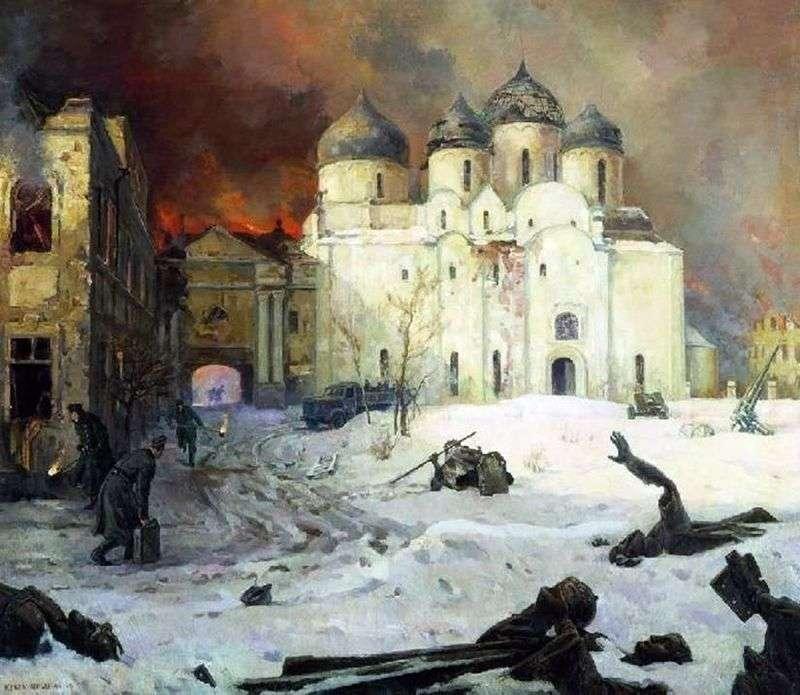 Втеча фашистів з Новгорода   Кукринікси