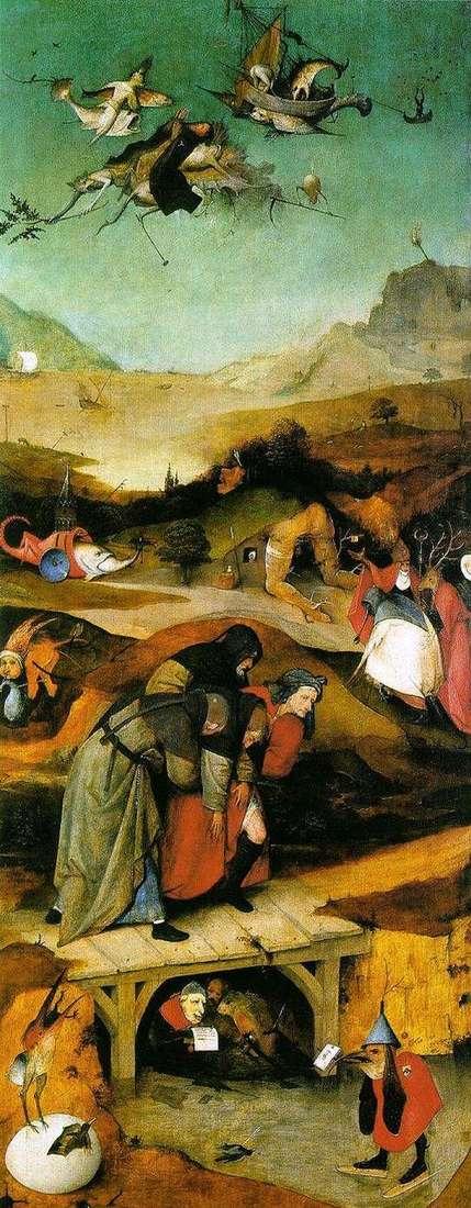 Політ і падіння святого Антонія. Ліве крило триптиха   Ієронім Босх