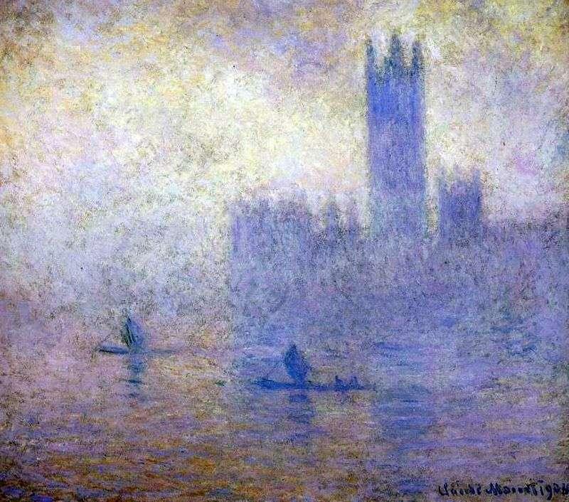 Будівля Парламенту в Лондоні. Ефект туману   Клод Моне