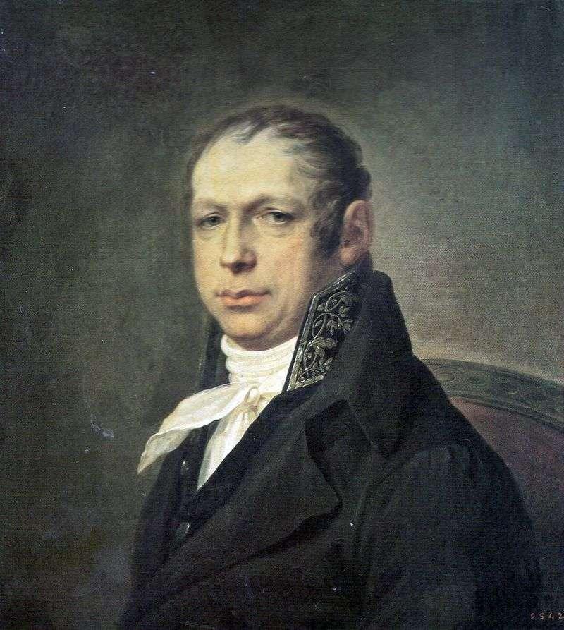 Портрет архітектора Адріана Дмитровича Захарова   Степан Щукін