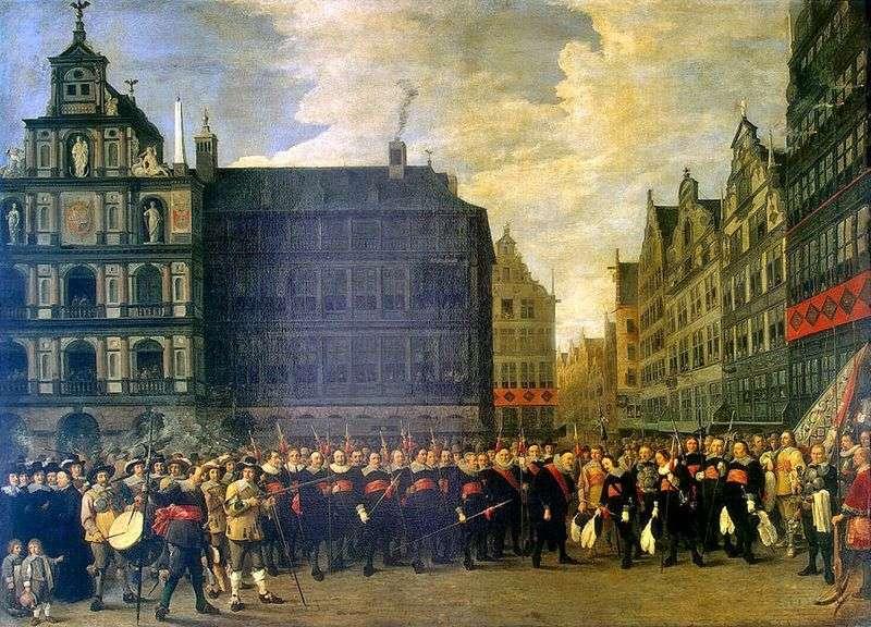 Груповий портрет членів стрілецької гільдії в Антверпені   Давид Тенірс