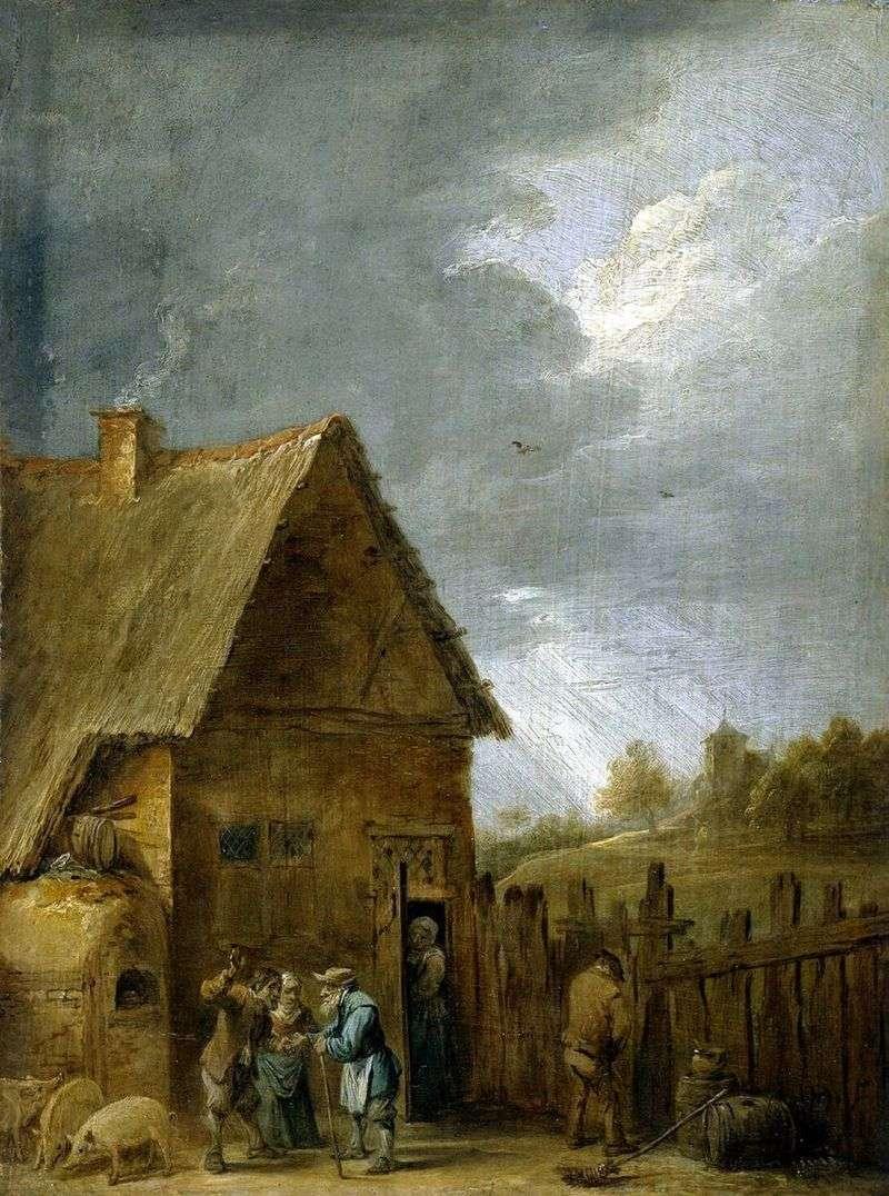 Двір селянського будинку   Давид Тенірс