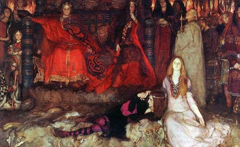 Гамлет грає сцену   Едвін Остін Еббі