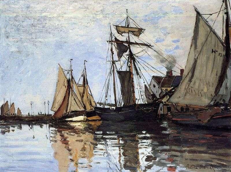 Човни в Порту Онфлер   Клод Моне