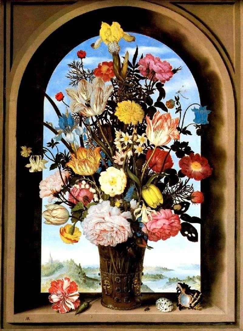 Букет в арковому вікні   Амброзіус Босхарт