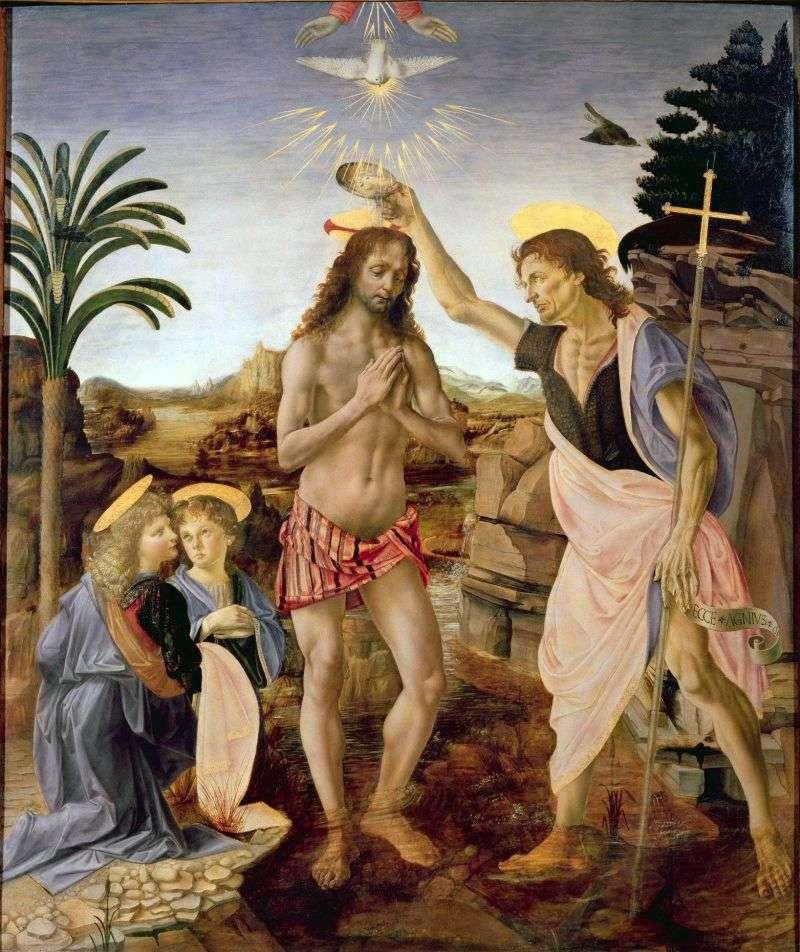 Хрещення Христа   Андреа дель Верроккьо