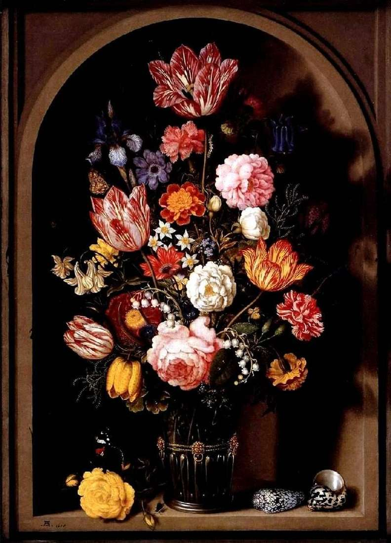 Букет квітів у вазі   Амброзіус Босхарт