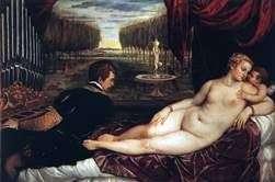 Венера з органістом і купідоном   Тіціан Вечелліо