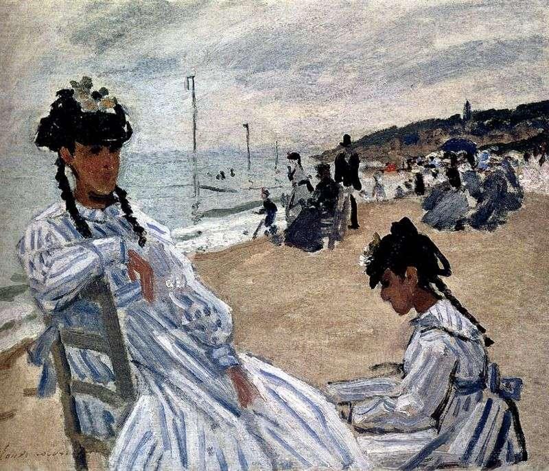 На пляжі в Трувіль   Клод Моне