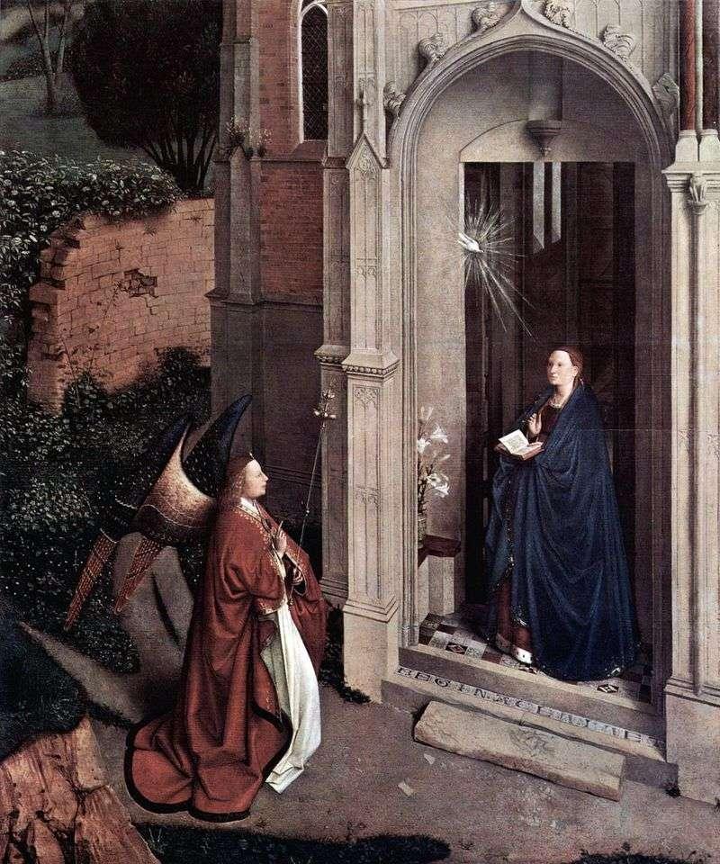 Благовіщення біля церкви   Ян ван Ейк