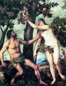 Адам і Єва   Тіціан Вечелліо