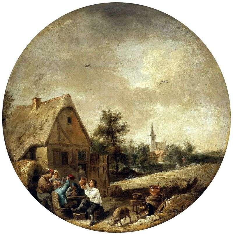 Пейзаж з сільським кабачком   Давид Тенірс