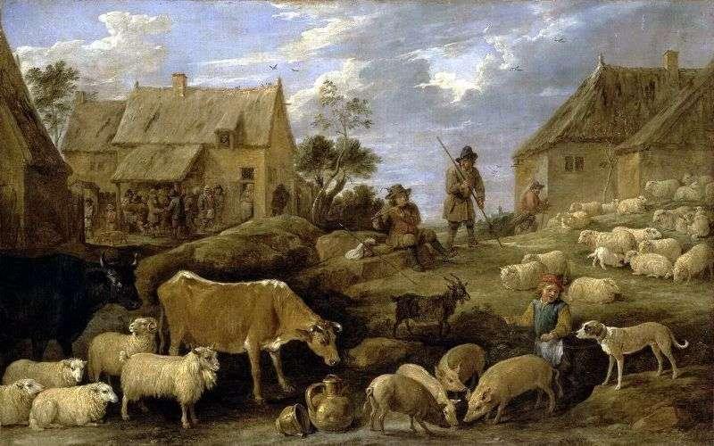 Пейзаж з пастухом і стадом   Давид Тенірс