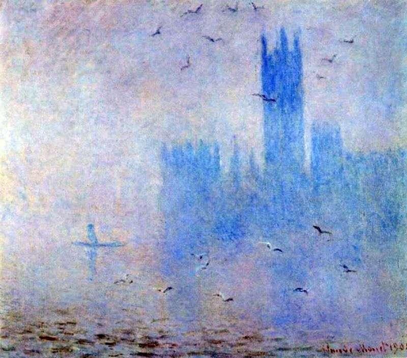 Парламент, бузковий туман   Клод Моне