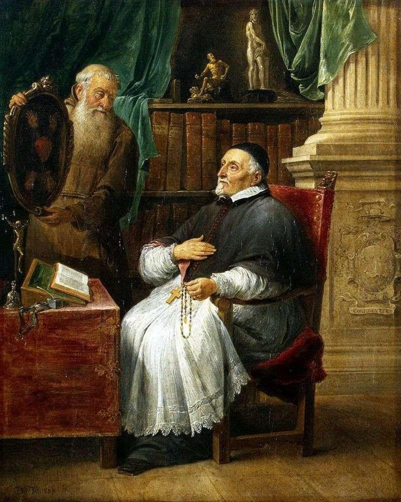 Портрет єпископа Антонія Триста і його брата Євгена   Давид Тенірс
