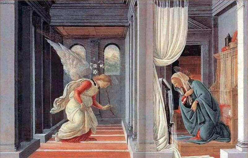 Благовіщення   Сандро Боттічеллі