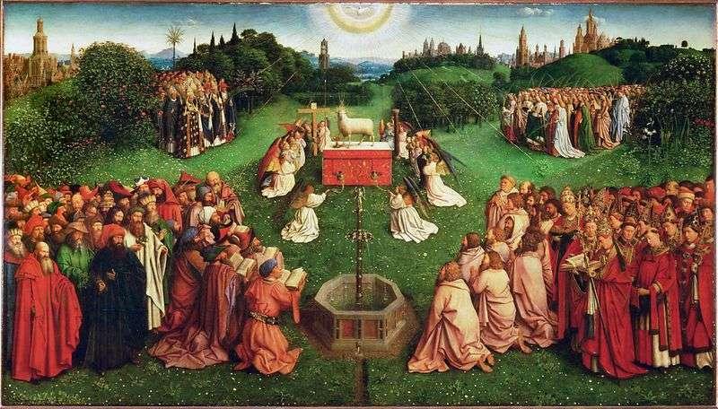 Гентський вівтар Поклоніння Агнцеві   Ян ван Ейк