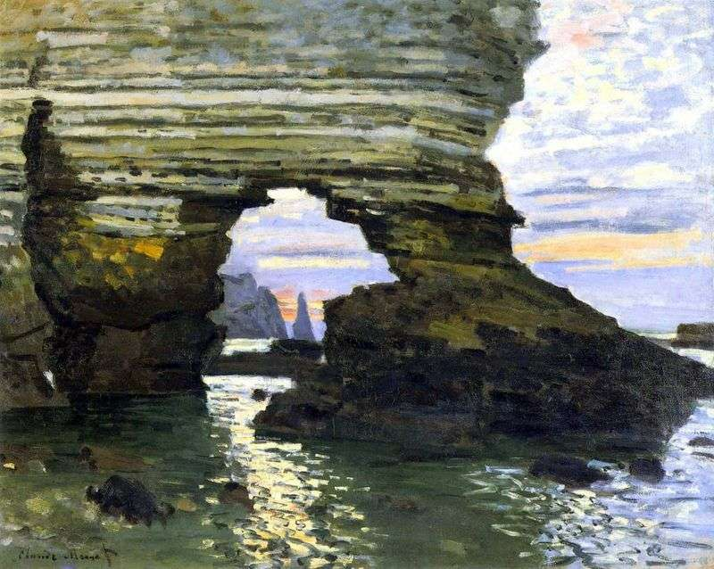 Порт Аваль, Етрета, камяні ворота   Клод Моне