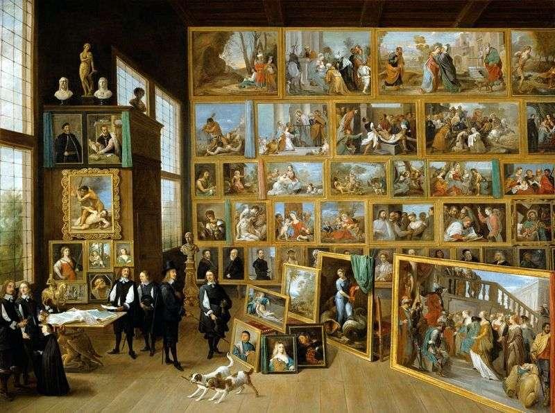 Ерцгерцог Леопольд Вільгельм Австрійський в його галереї в Брюсселі   Давид Тенірс