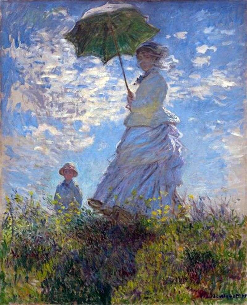 Прогулянка: Камілла Моне з сином Жаном   Клод Моне
