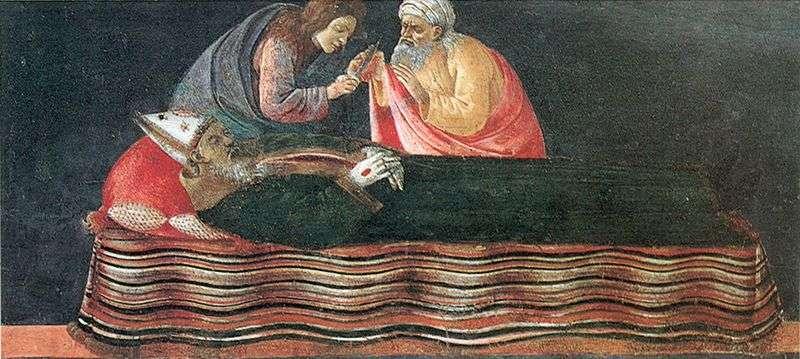 Витяг серця Святого Ігнатія   Сандро Боттічеллі
