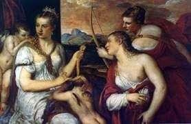 Венера, завязивающая Амуру очі   Тіціан Вечелліо