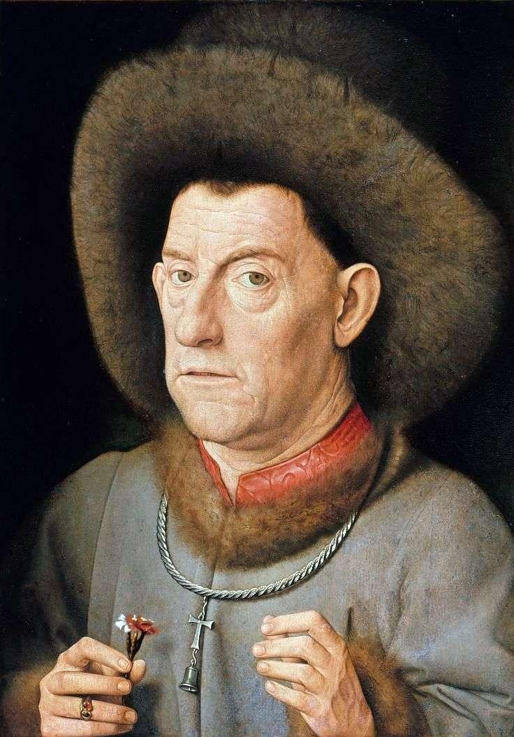 Чоловік з гвоздикою   Ян ван Ейк