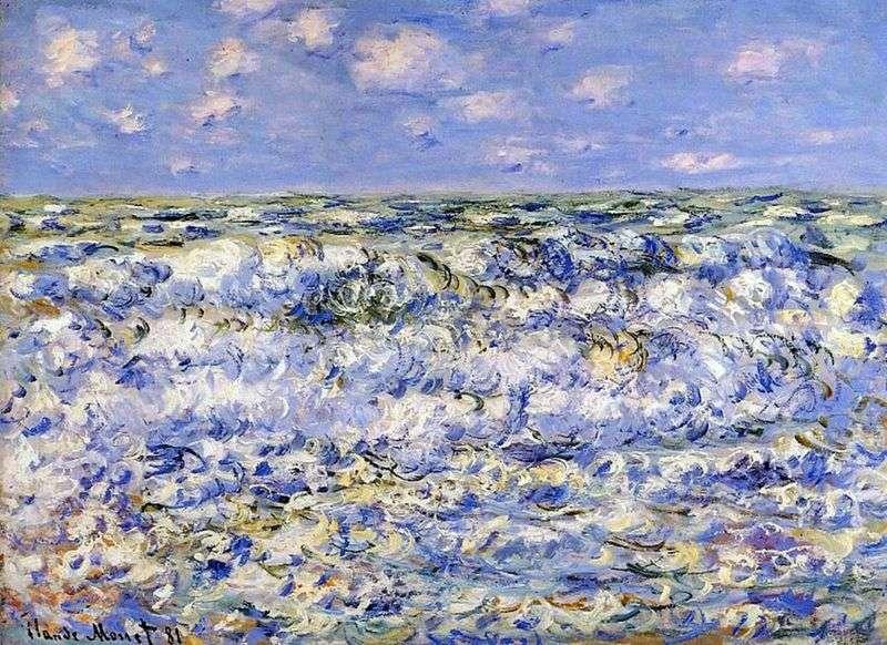 Розбиваються хвилі   Клод Моне