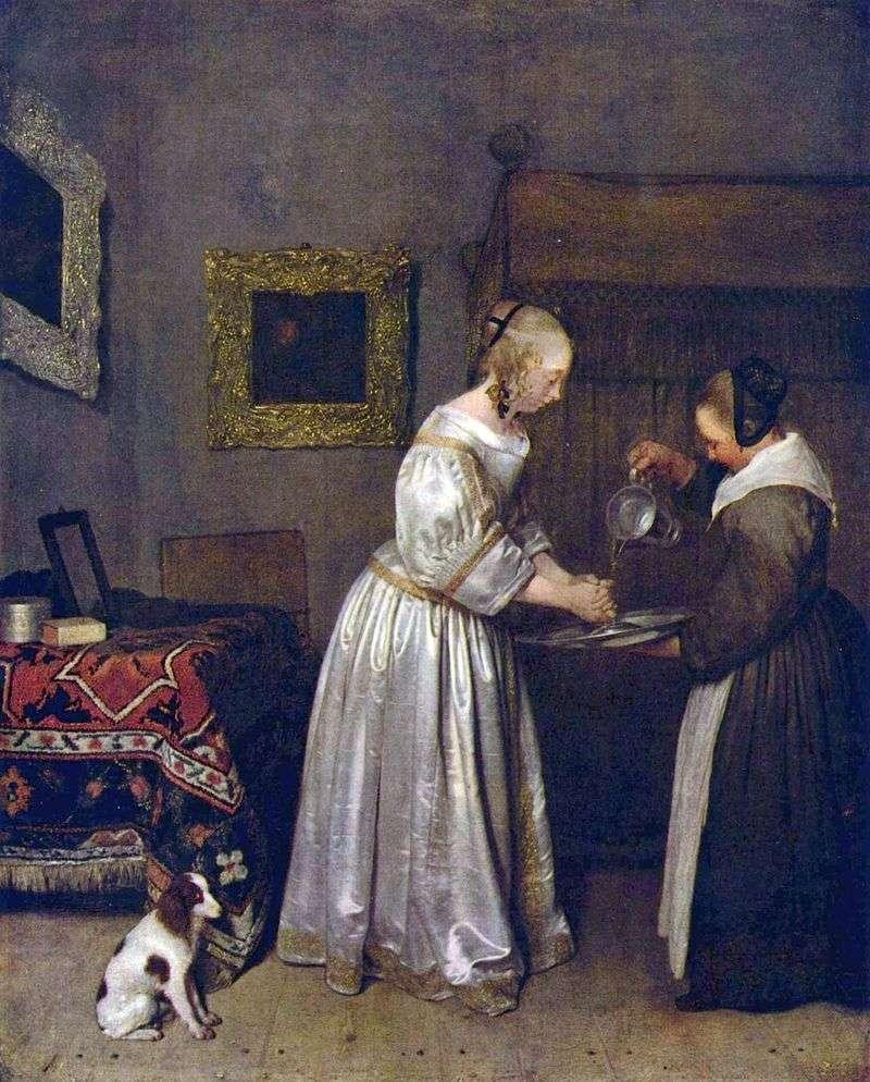 Жінка миє руки   Герард Терборх