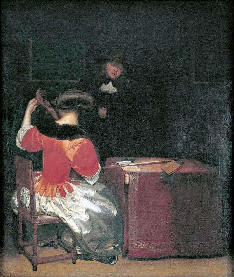 Урок музики   Герард Терборх