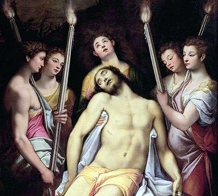Оплакування Христа ангелами   Федеріко Дзуккари