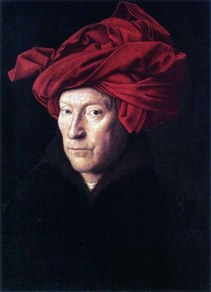 Портрет чоловіка в червоному тюрбані   Ян ван Ейк