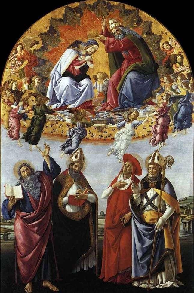 Коронування Марії   Сандро Боттічеллі