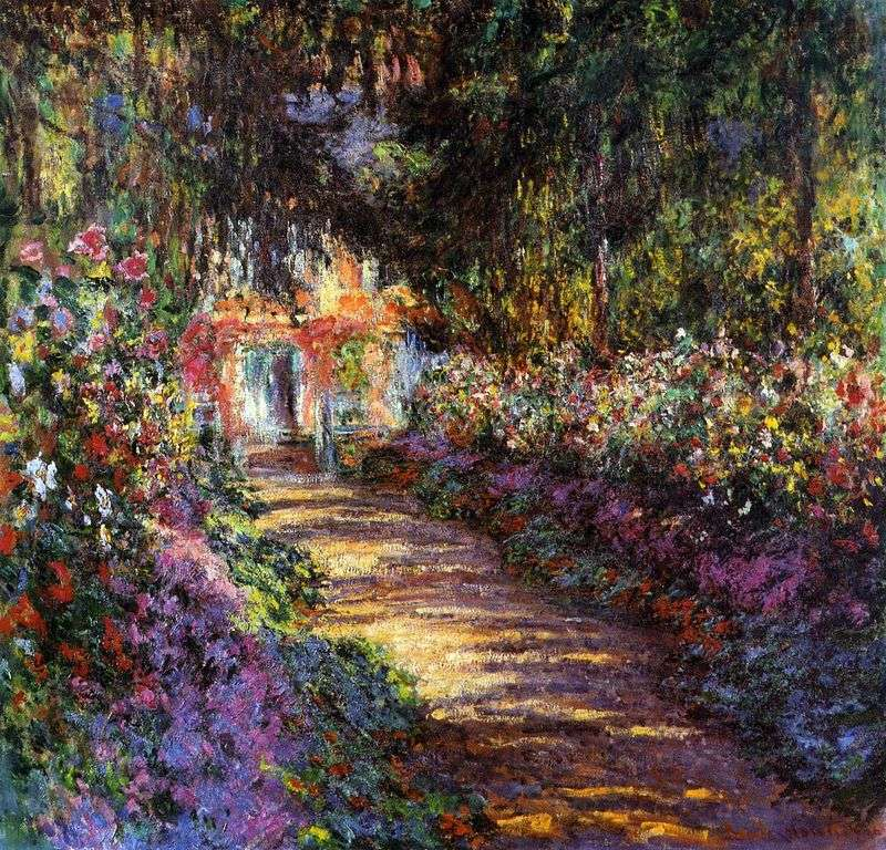 Сад в цвіту   Клод Моне
