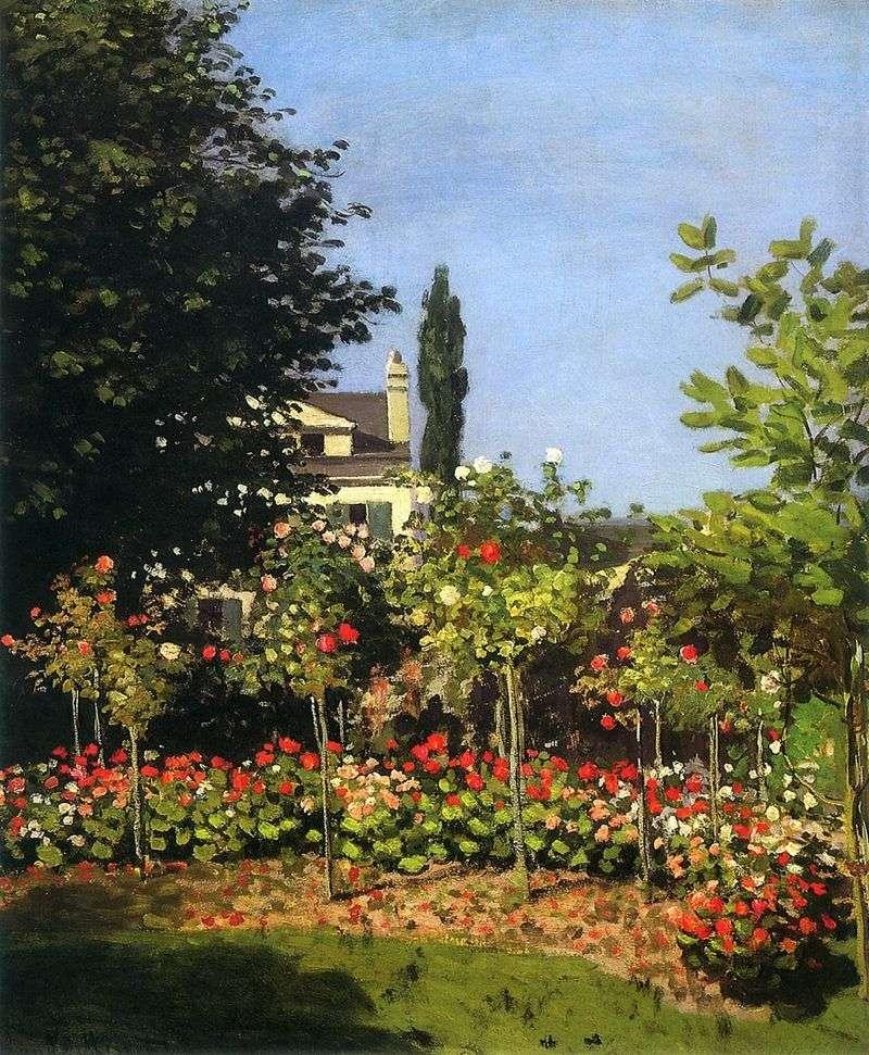 Сад в цвіту в Сент Адреса   Клод Моне