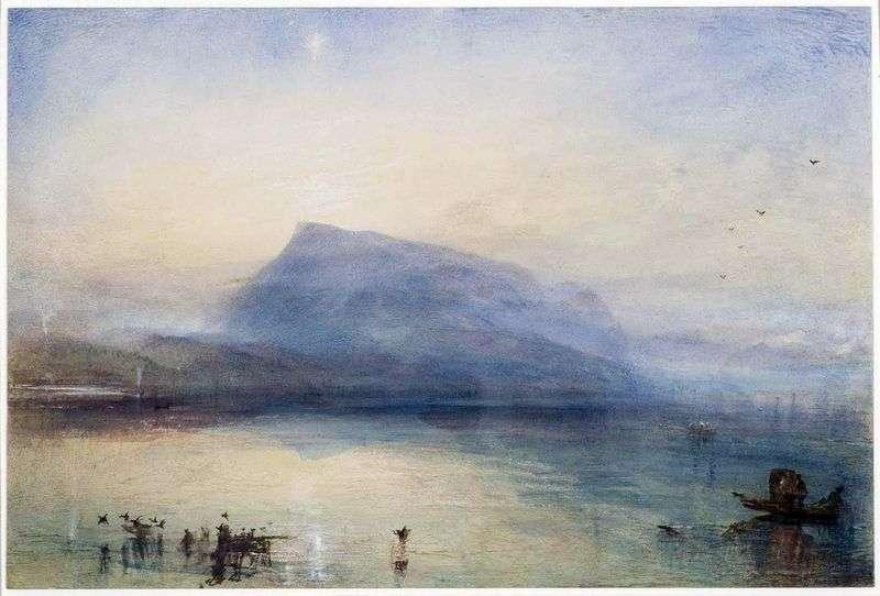 Гора Риги: вид на Люцернськом озеро на сході   Вільям Тернер