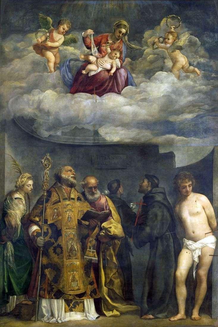 Мадонна з Немовлям і святими   Тіціан Вечелліо
