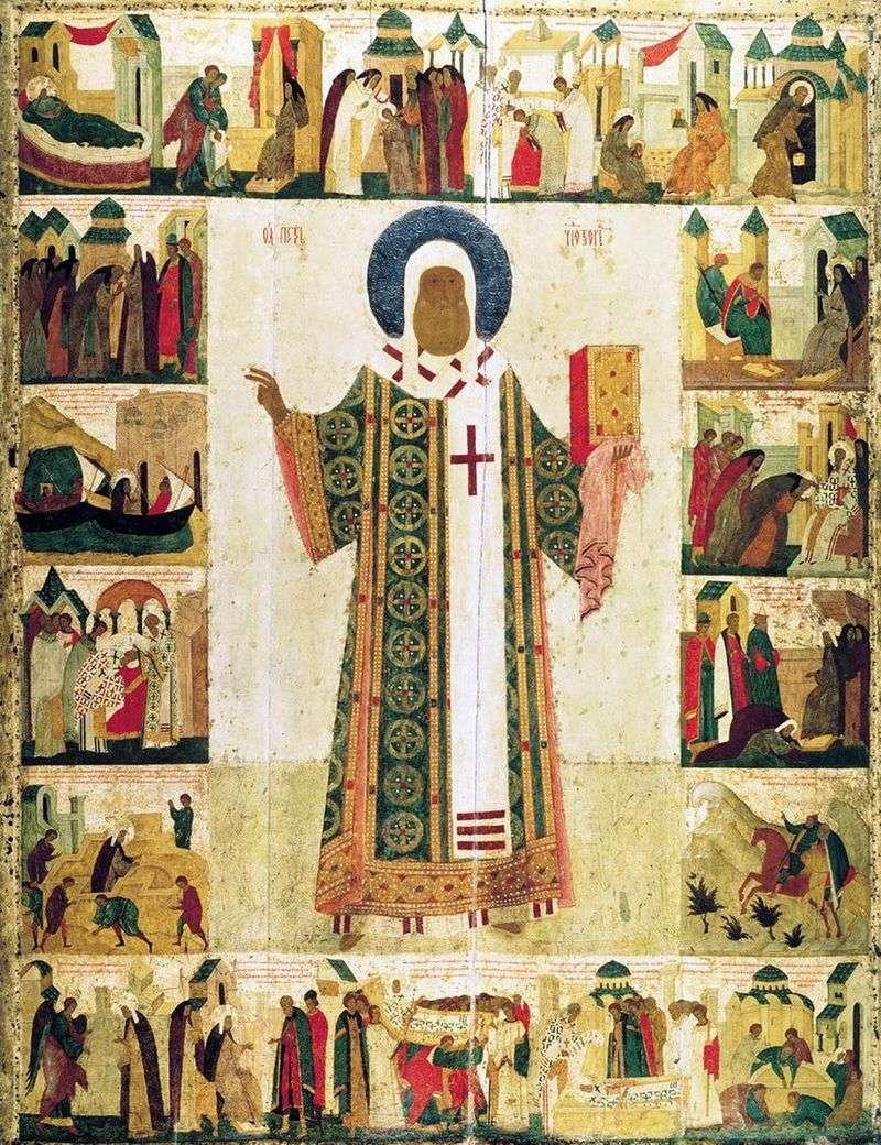 Св. Митрополит Петро з житієм   Діонісій