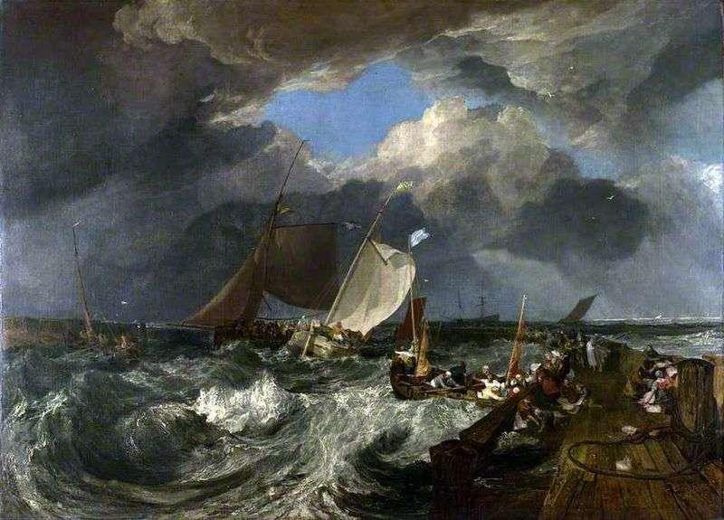 Мовляв в Кале. Французькі рибалки виходять в море прибуває англійське пасажирське судно   Вільям Тернер