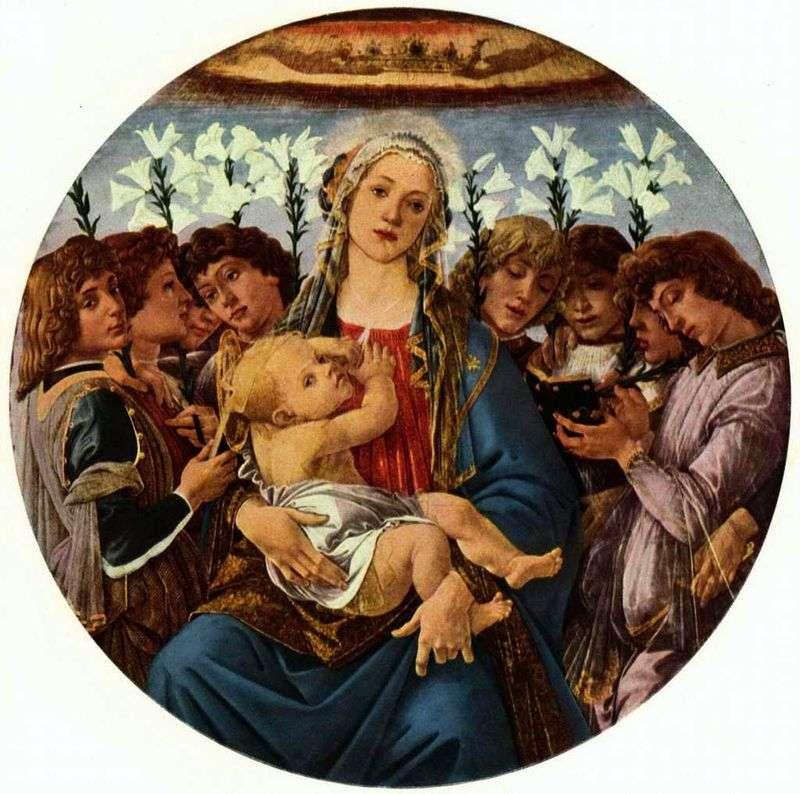Мадонна з Немовлям і вісьмома ангелами (Рачинское тондо)   Сандро Боттічеллі