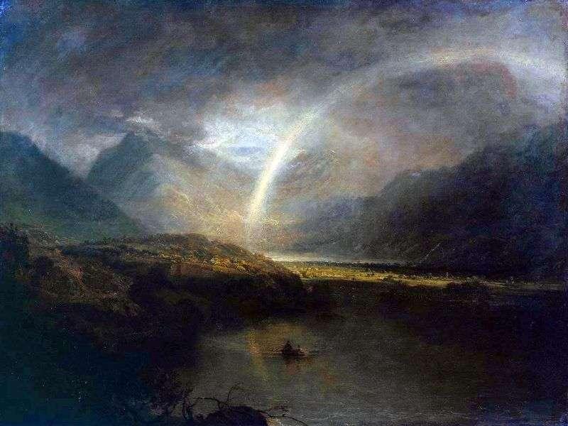 Озеро Баттермир, з радукой і зливою   Вільям Тернер