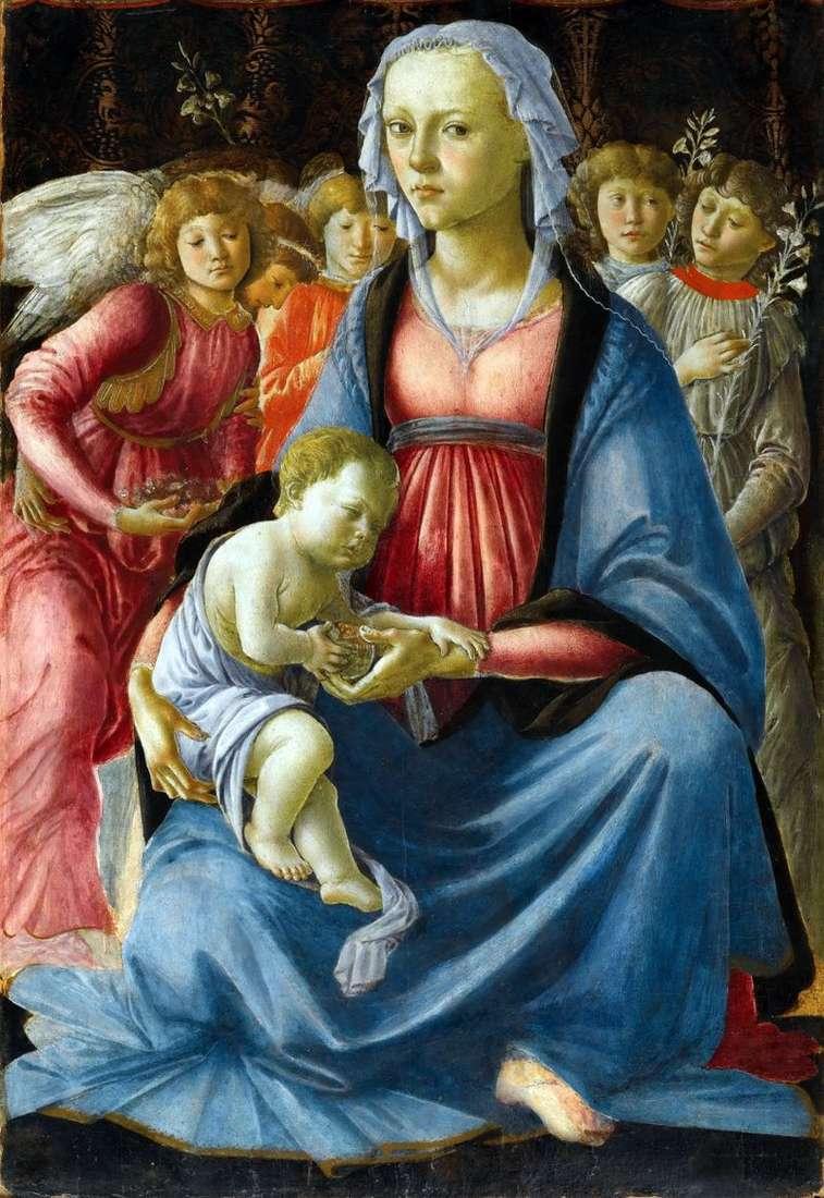 Мадонна з Немовлям і пятьма ангелами   Сандро Боттічеллі
