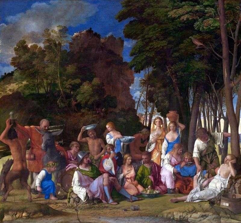 Бенкет богів   Тіціан Вечелліо