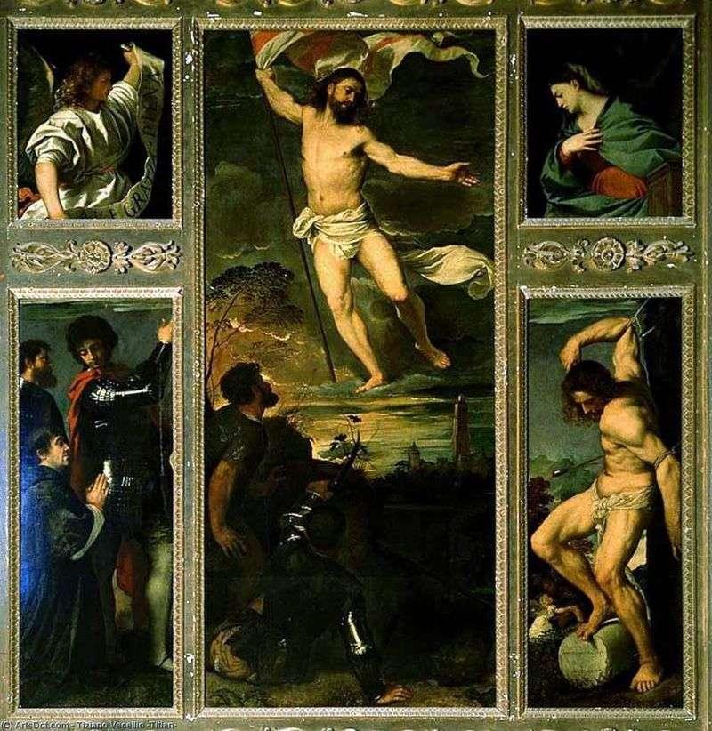 Поліптих Воскресіння   Тіціан Вечелліо