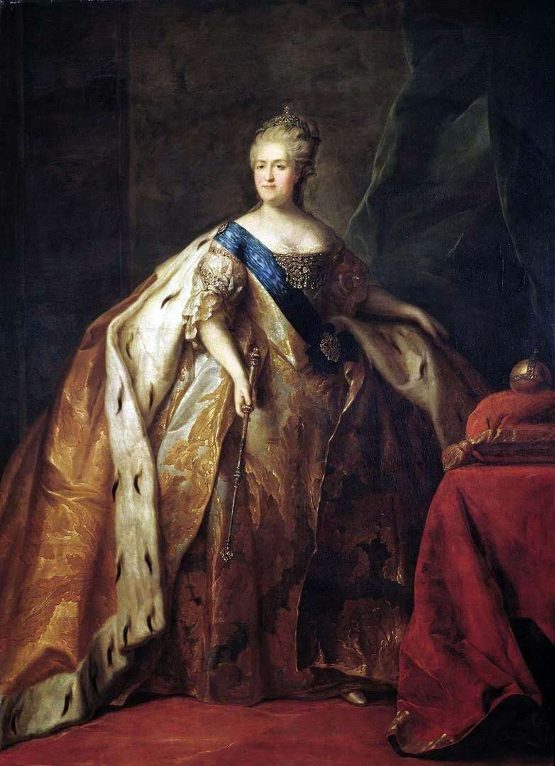 Портрет імператриці Катерини II   Петро Дрождин