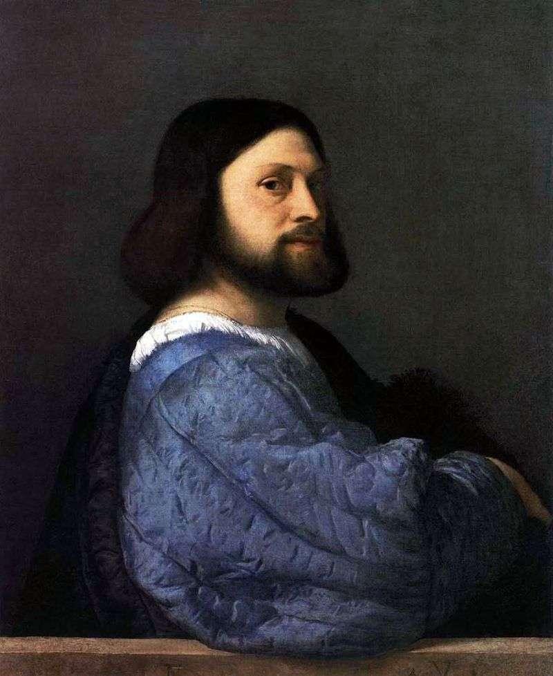 Чоловічий портрет (Аріосто)   Тіціан Вечелліо