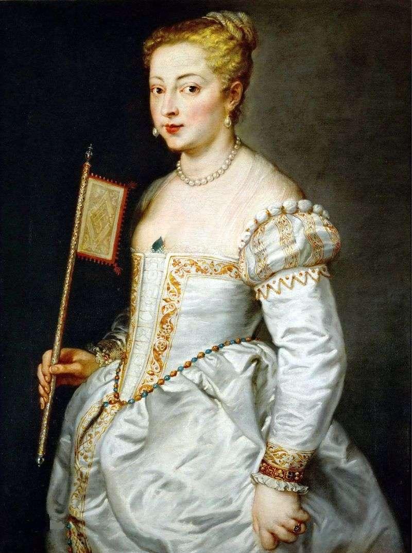 Портрет дами в білому платті   Тіціан Вечелліо