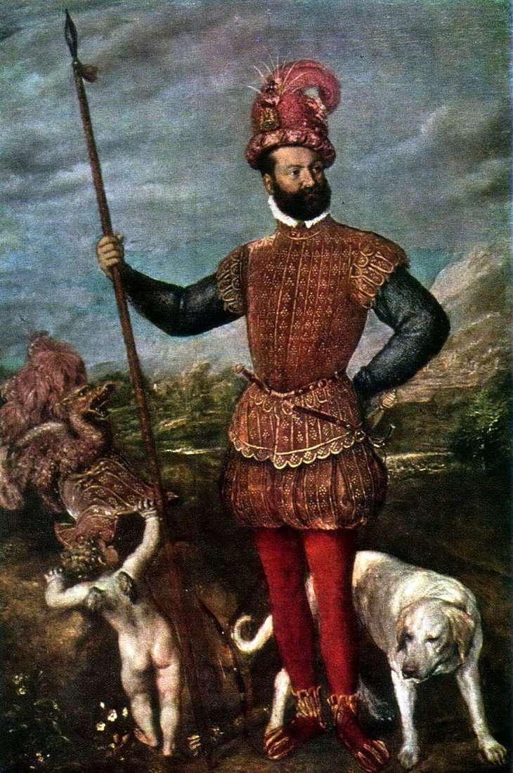 Портрет Джованні Франческо Аквавіва, герцога Атрі   Тіціан Вечелліо