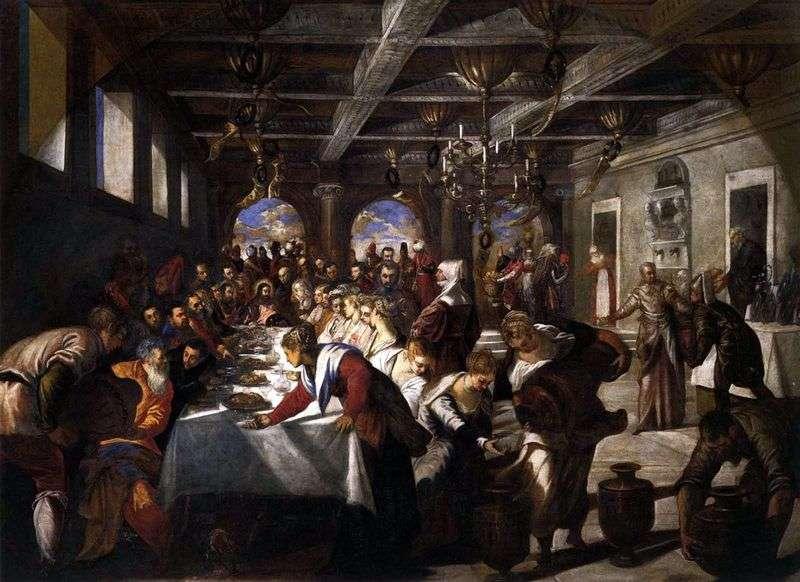 Шлюб в Кані Галілейській   Якопо Тінторетто