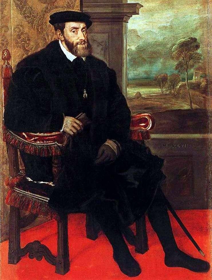 Портрет Карла V в кріслі   Тіціан Вечелліо